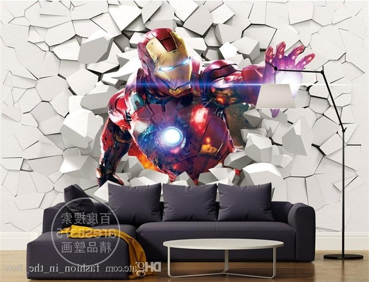 Iron Man 3D Wall Art In Most Current 3D Iron Man Wallpaper Marvel Heroes Photo Wallpaper Custom Wall (View 6 of 15)