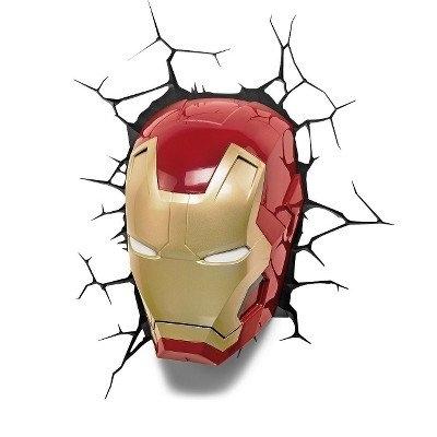 Iron Man 3D Wall Art within Recent The Avengers 3D Wall Art Nightlight - Iron Man Face: Amazon.co.uk