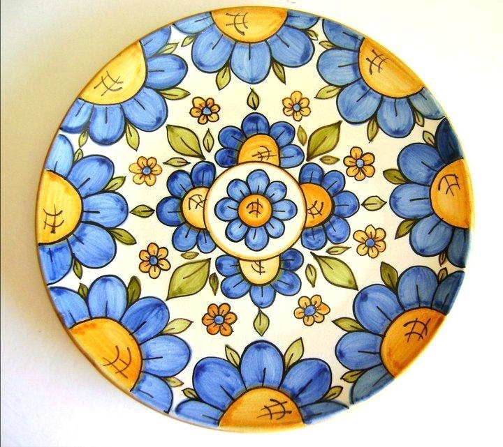 Italian Ceramic Wall Art With Regard To Most Current Italian Ceramic Wall Art Ceramic Wall Plates From Obsessed Walls And (View 7 of 15)