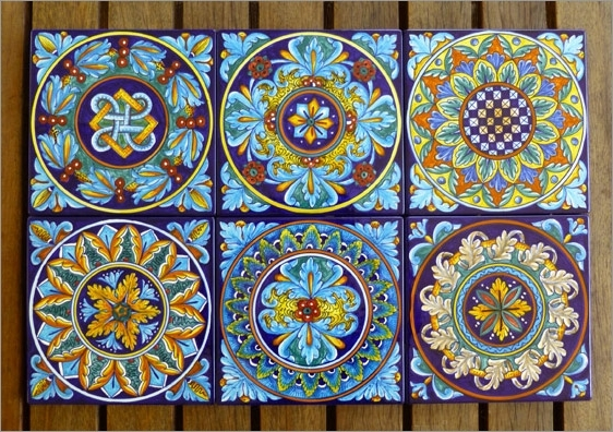 Italian Ceramic Wall Art Within Most Recently Released Just Added! Eugenio's Geometric Tiles – Thatsarte Italian (View 9 of 15)