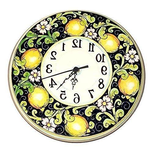 Italian Ceramic Wall Clock Decors With Preferred Ceramiche D'arte Parrini – Italian Ceramic Wall Round Clock Art (Gallery 8 of 15)
