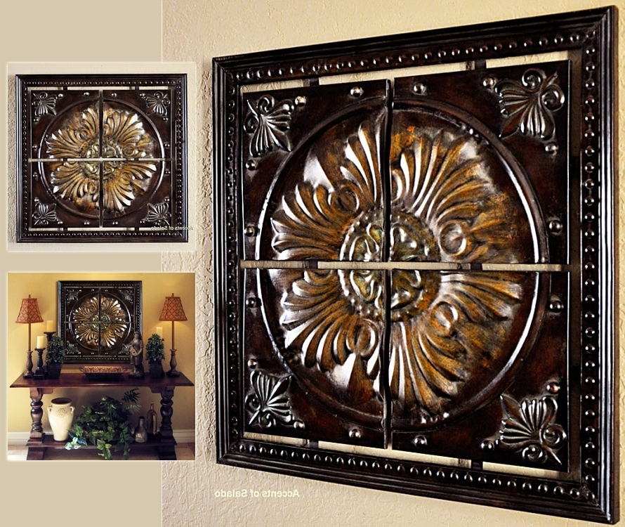 Italian Wall Art Decor For Favorite Astonishing Tuscan Wall Art At Iron Decor Old World Medallion For (View 12 of 15)