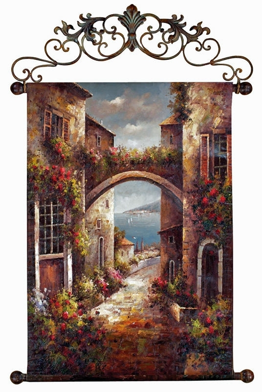 Italian Wall Art Decor For Latest Wall Art Designs: Best Design Tuscan Wall Art Decor With Mixed (View 5 of 15)