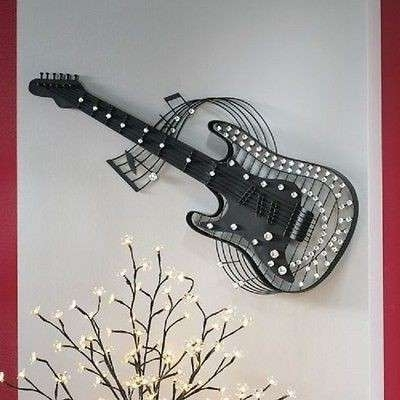Jeweled Metal Wall Art For Most Recent Guitar Wall Decor Elegant Wall Art Designs Guitar Wall Art Jeweled (View 15 of 15)