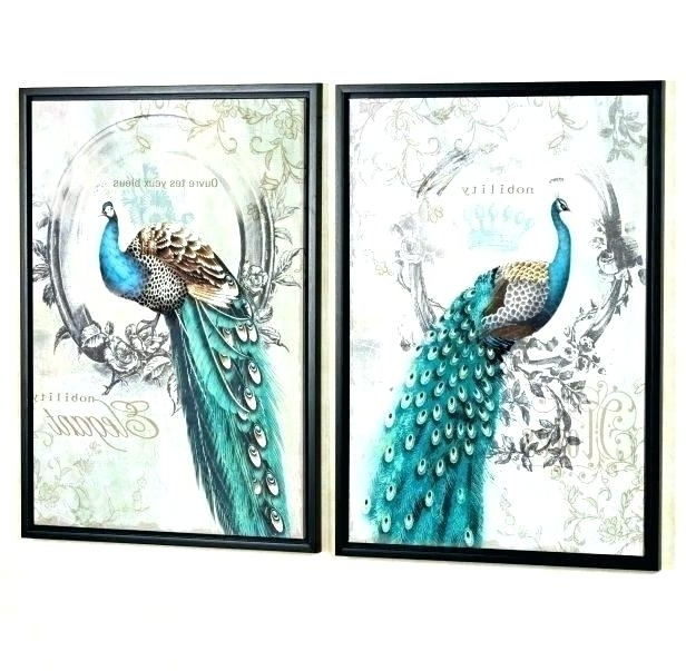 Jeweled Peacock Wall Art inside Well-known Peacock Wall Art Metal Jeweled Peacock Wall Art Jeweled Peacock Wall