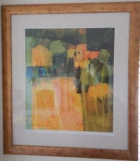 John Lewis Print In Frame: 'abstract Mediterranean Rural Scene' (Gallery 12 of 15)