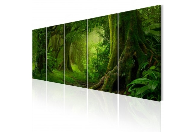 Jungle Canvas Wall Art intended for Current Canvas Wall Art Tropical Jungle - Forest - Landscapes - Canvas Prints