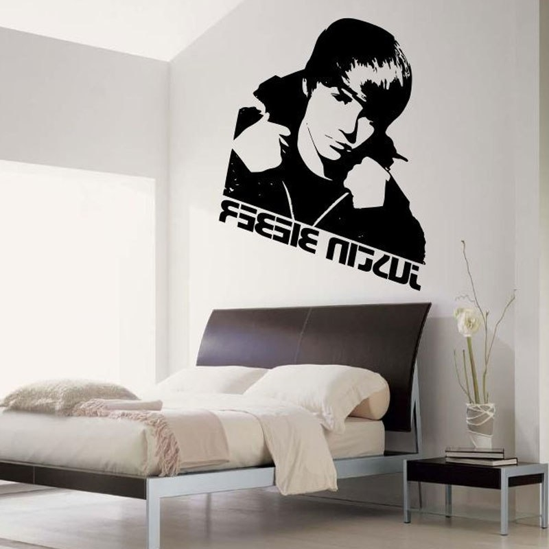 Justin Bieber Wall Art With Best And Newest Home Decor Justin Bieber Wall Sticker Bedroom Vinyl Art Decal Mural (View 14 of 15)