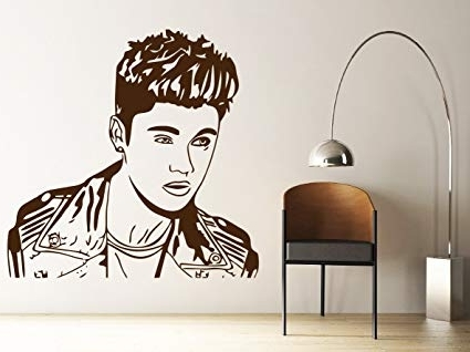 Justin Bieber Wall Art Within Most Recent Amazon – Dreamkraft Justin Bieber Wall Decor Art Stickers Vinyl (Gallery 11 of 15)