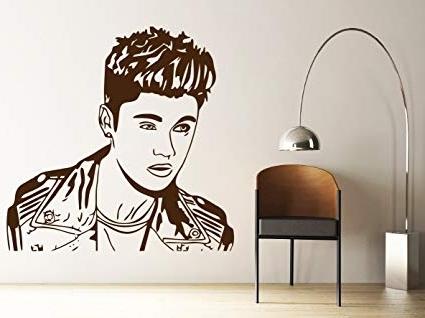 Justin Bieber Wall Art Within Most Recent Amazon – Dreamkraft Justin Bieber Wall Decor Art Stickers Vinyl (View 11 of 15)