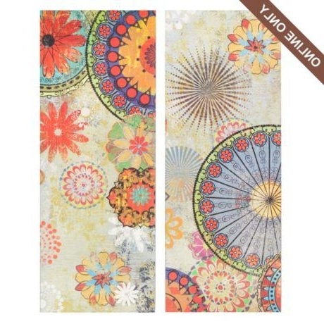 Kaleidoscope Wall Art Within 2017 Kaleidoscope Floral Canvas Art Print, Set Of 2 At Kirkland's (View 9 of 15)