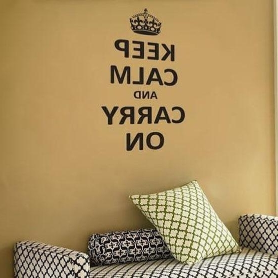 Featured Photo of Keep Calm And Carry On Wall Art