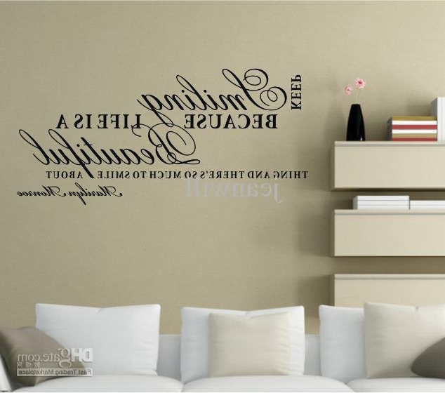 Keep Smiling Marilyn Monroe Wall Quote Decal Sticker Decor Lettering Intended For Most Current Marilyn Monroe Wall Art Quotes (Gallery 3 of 15)