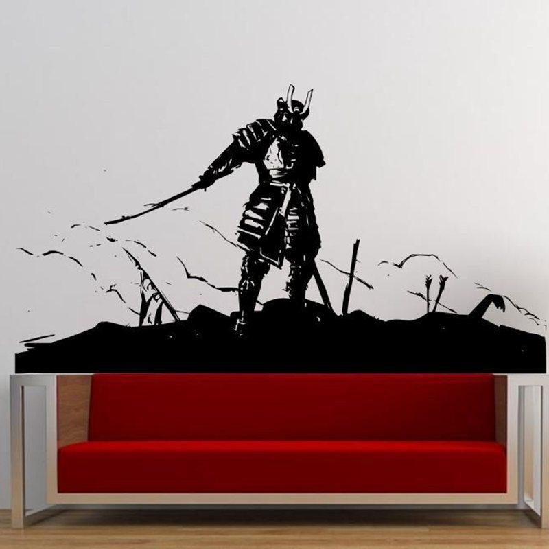 Kendo Sticker Samurai Decal Japan Ninja Poster Vinyl Art Wall Decals Throughout Newest Samurai Wall Art (Gallery 4 of 15)