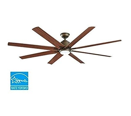 Kensgrove 72 In. Led Indoor/outdoor Espresso Bronze Ceiling Fan Throughout Most Current 72 Predator Bronze Outdoor Ceiling Fans With Light Kit (Gallery 6 of 15)