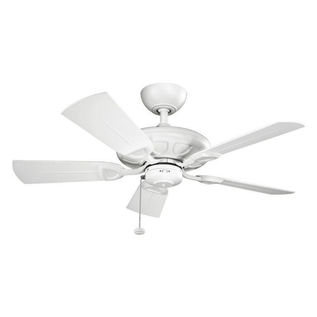 "Kichler 310144Mwh Kevlar 42"" Outdoor Ceiling Fan In Matte White (Gallery 11 of 15)"