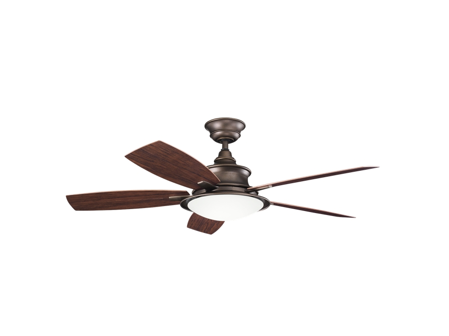 Kichler 52 Inch Cameron Outdoor Ceiling Fan - Weathered Copper with regard to Well known 52 Inch Outdoor Ceiling Fans With Lights