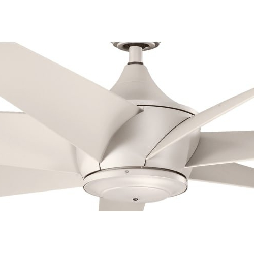 "Kichler Outdoor Ceiling Fans With Lights For Widely Used Kichler 310115Ans, Lehr Antique Satin Silver 80"" Outdoor Ceiling Fan (View 7 of 15)"