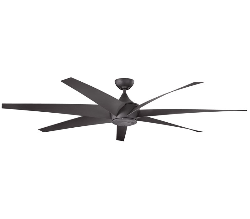Kichler Outdoor Ceiling Fans With Lights Regarding 2018 Kichler 310115Dbk Lehr 80 Inch Distressed Black Ceiling Fan (View 11 of 15)