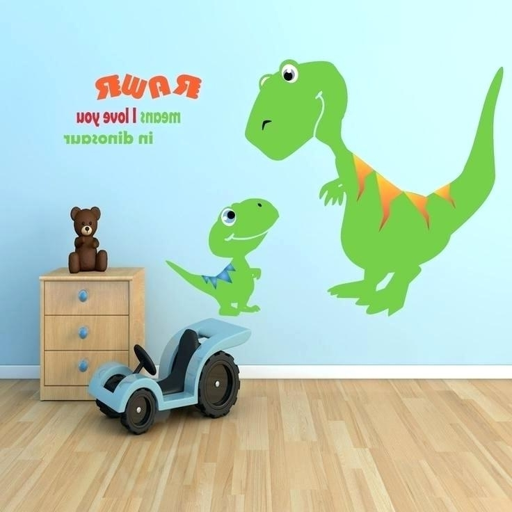 Kids Wall Art Ideas Wall – Queencitychess.club within Most Recent Dinosaur Wall Art For Kids