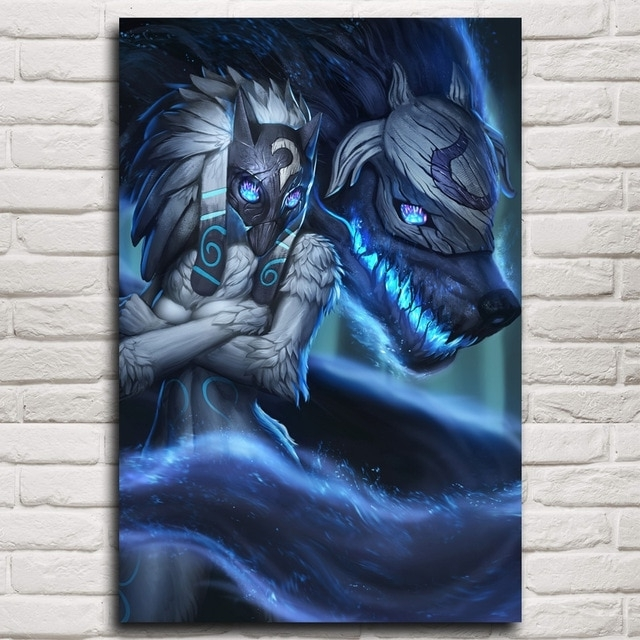 Kindred Abstract Metal Wall Art Inside 2017 Kindred League Of Legends Lol Game Art Silk Poster Pictures Home (View 7 of 15)