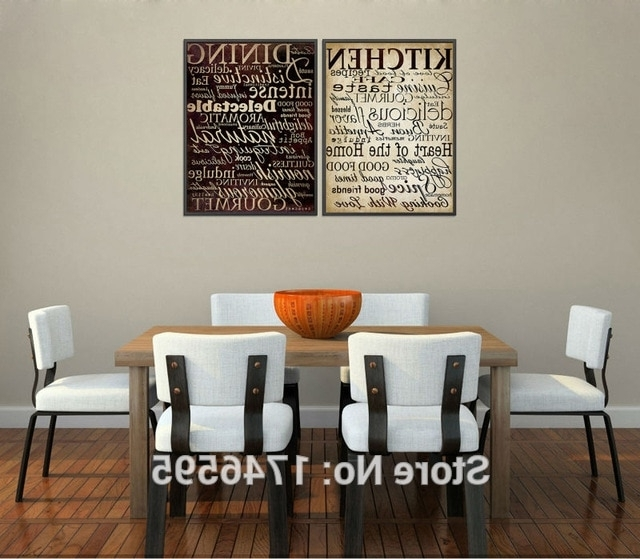 Kitchen And Dining Wall Art Throughout Newest Vintage Poster House Mural Home Decor Letters Picture For Kitchen (View 9 of 15)