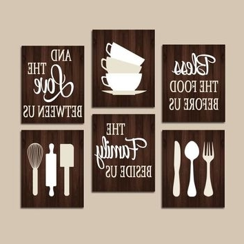 Kitchen Wall Art Sets inside Best and Newest Shop Kitchen Wall Art Sets On Wanelo