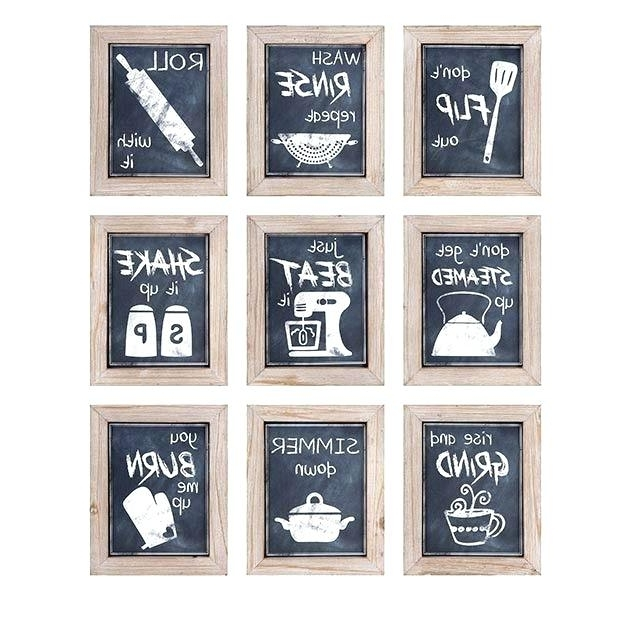 Kitchen Wall Art Sets Pertaining To Most Recent Kitchen Framed Art Quirky Kitchen Art Decor Wall And Inside Sets (View 1 of 15)