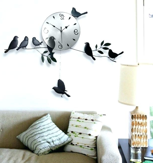 Kohls Wall Decals Regarding Current Kohls Wall Decals As Well As Decal Wall Clock Wall Decal Clock Wall (Gallery 4 of 15)