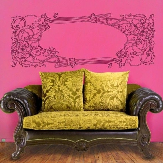 Featured Photo of Art Nouveau Wall Decals