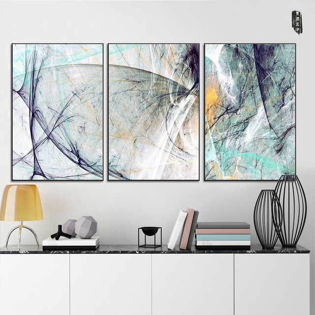 Landscape Abstract Canvas Paintings Modern Wall Art Poster And Intended For Well Known Abstract Wall Art Posters (View 8 of 15)