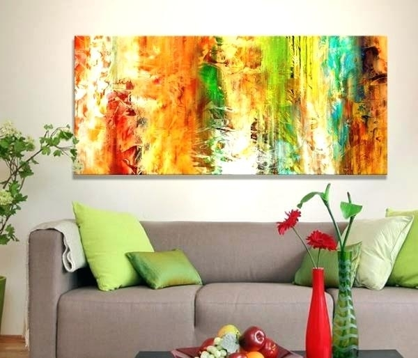 Large Abstract Canvas Art Contemporary Wall Art Large Abstract For Most Up To Date Diy Abstract Canvas Wall Art (View 8 of 15)