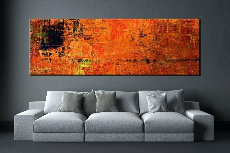 Large Abstract Canvas Wall Art Living Room Wall Piece Wall Art Within Most Popular Big Abstract Wall Art (View 9 of 15)