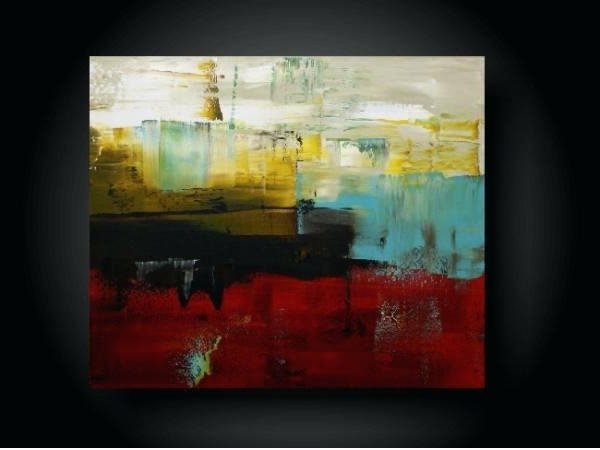 Large Abstract Canvas Wall Art With Most Popular Large Abstract Canvas Wall Art Large Abstract Painting Modern (View 8 of 15)