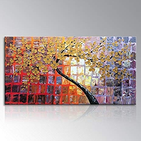 Large Abstract Canvas Wall Art With Regard To Current Amazon: Seekland Art Hand Painted Large Abstract Painting Canvas (View 9 of 15)