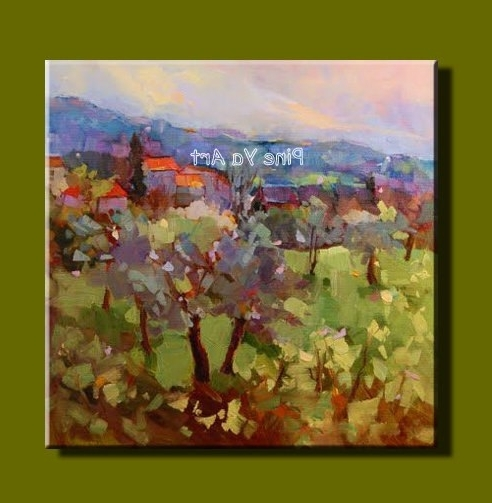 Large Abstract Modern Canvas Wall Art Handmade Picture Vineyard Intended For Newest Vineyard Wall Art (View 7 of 15)