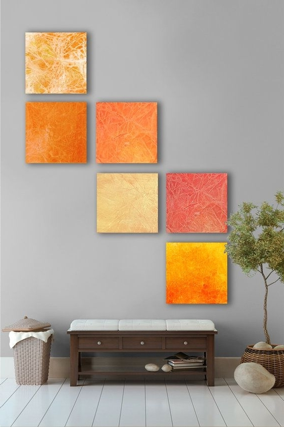 Large Abstract Wall With Regard To Abstract Orange Wall Art (View 8 of 15)