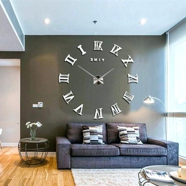 Large Art Deco Wall Clocks New Modern Mirror Large Wall Clock Inside Favorite Large Art Deco Wall Clocks (View 6 of 15)