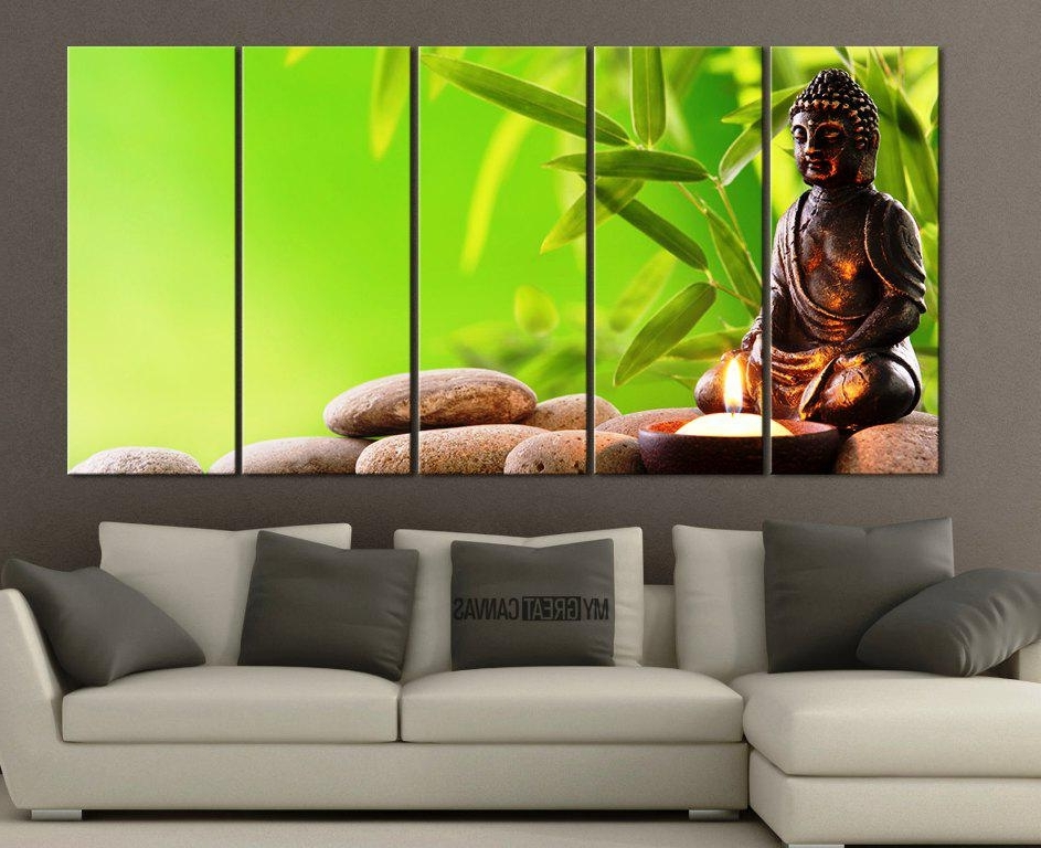 Large Buddha Wall Art Within Newest Large Buddha Canvas Wall Art — Home Designs Insight : Buddha Wall (View 10 of 15)