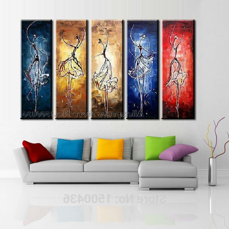 Large Canvas Wall Art Sets For Current Hand Painted Large Canvas Wall Art Sets Interior Design Decoration (View 3 of 15)