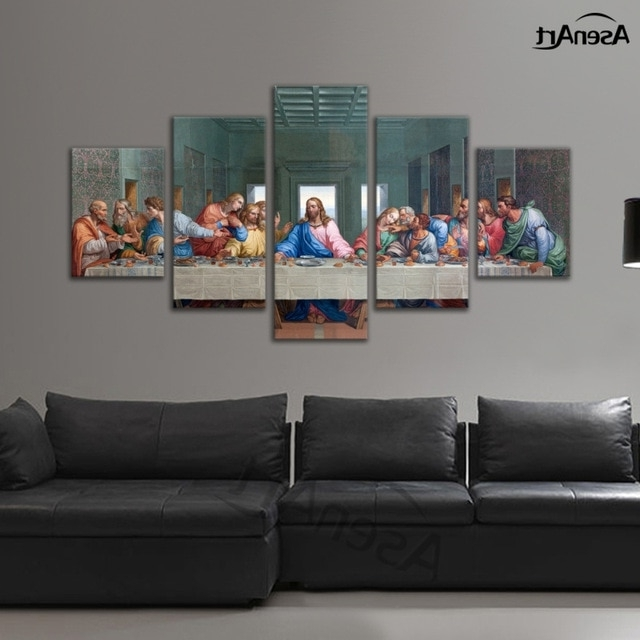 Large Christian Wall Art Throughout Recent Modern Canvas Wall Art Rectangle Christian The Last Supper Jesus (View 13 of 15)