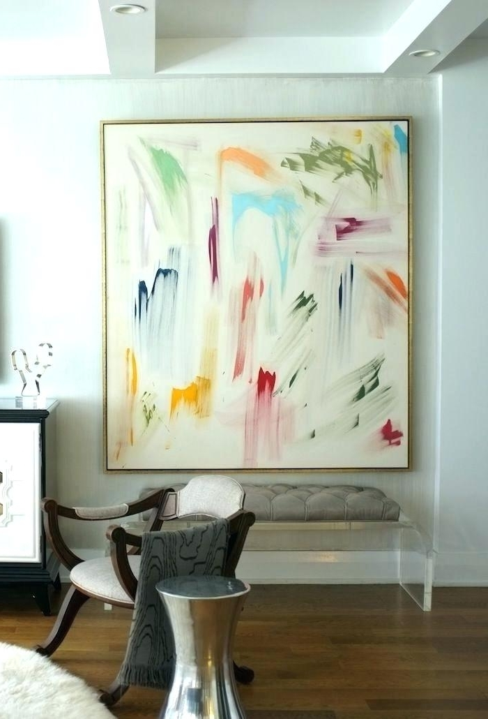 Large Framed Abstract Wall Art With Current Framed Abstract Wall Art Framed Modern Abstract Wall Art Canvas Oil (View 8 of 15)