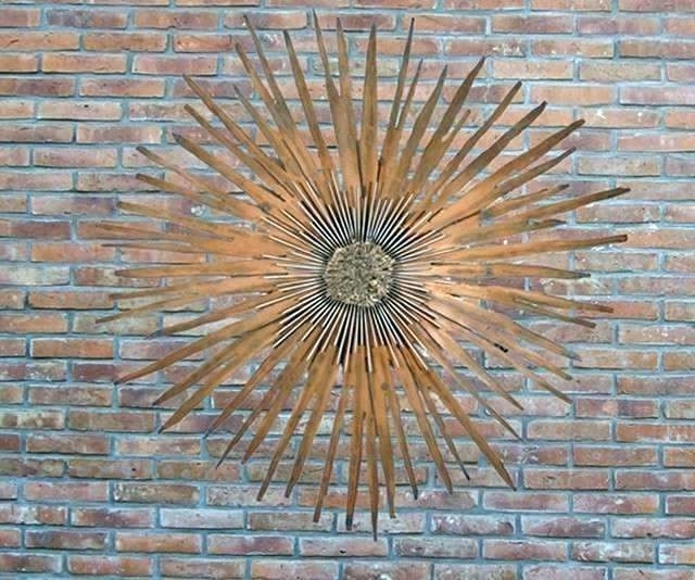 Large Garden Wall Art Inside Fashionable Wrought Iron Garden Wall Art Outdoor Wall Decor Large Outdoor Wall (View 5 of 15)