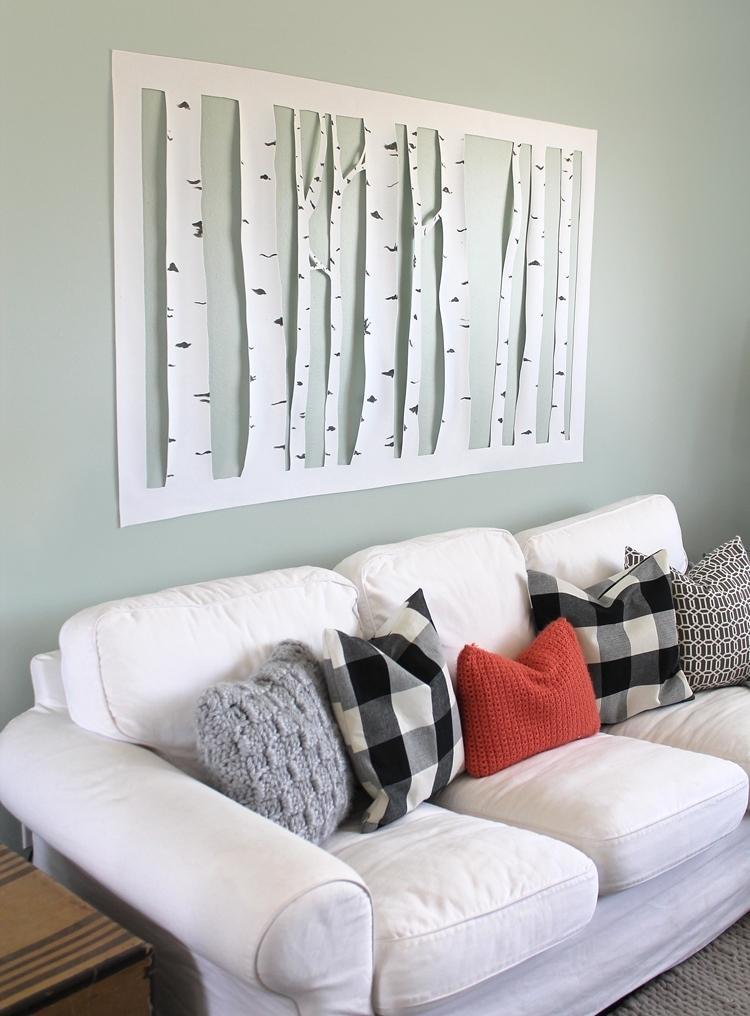 Large Inexpensive Wall Art Regarding Popular Large, Inexpensive Diy Aspen Tree Wall Art – Thecraftpatchblog (View 4 of 15)