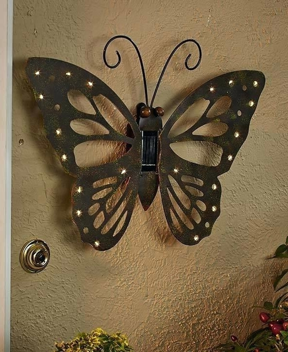 Large Metal Butterfly Wall Art Regarding Trendy Metal Butterfly Wall Art Metal Butterfly Wall Art Metal Butterflies (View 13 of 15)