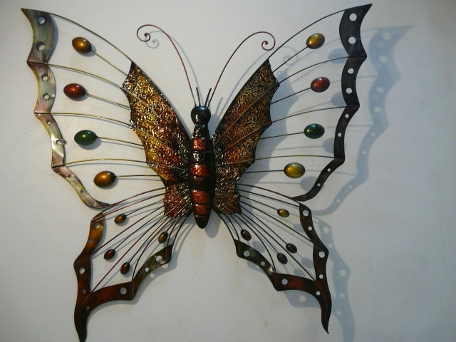 Large Metal Butterfly Wall Art Throughout Well Liked Large Metal But Spectacular Metal Butterfly Wall Art – Wall (View 10 of 15)