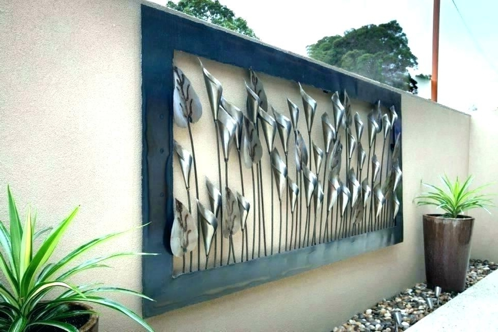 Large Metal Wall Art For Outdoor Pertaining To Well Liked Best Home Ideas Cool Large Metal Wall Decor Of Amazon Com Pictures (View 6 of 15)