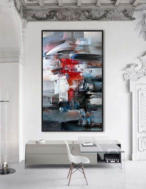 Large Modern Wall Art Inside Best And Newest Contemporary Abstract Painting Extra Large Modern Wall Art (View 4 of 15)