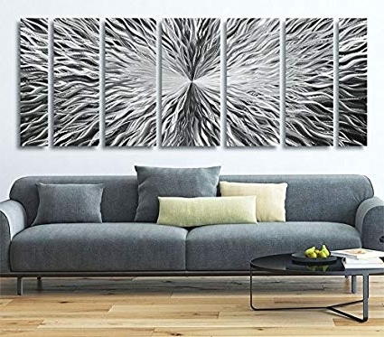 Large Modern Wall Art With Most Recently Released Amazon: Extra Large Modern Metal Wall Art – Abstract Metallic (View 5 of 15)
