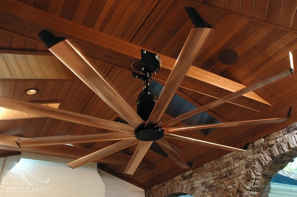 Large Outdoor Ceiling Fans With Lights In Trendy Big Outdoor Ceiling Fans Type Modern Ceiling Design Big Regarding (View 11 of 15)